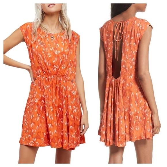 Free People Dresses & Skirts - Free people fake love animal print crepe dress